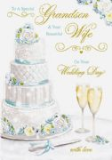 Grandson & Wife Wedding Day Greeting Card